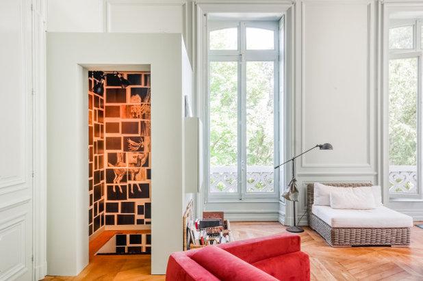 Moderne Escalier Créer un accès à la,cave  sans denaturer le salon