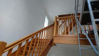 décoration montée d'éscalier