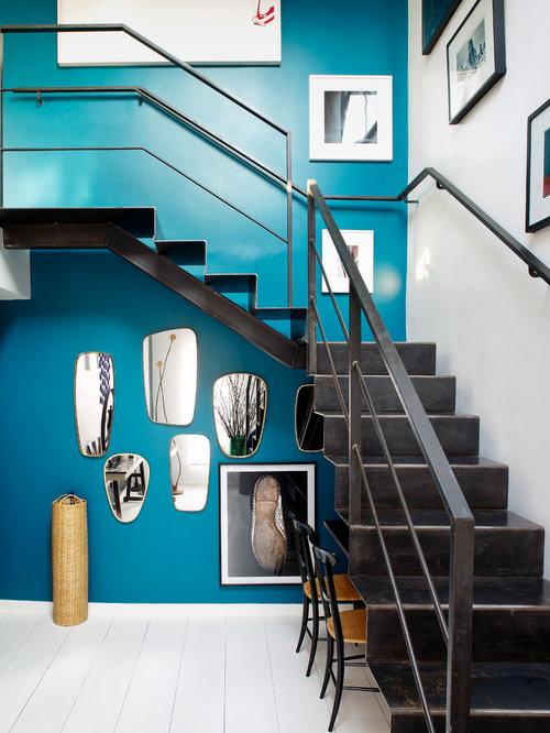images de dcoration et ides dco de maisons mur bleu turquoise - Cuisine Mur Bleu Turquoise