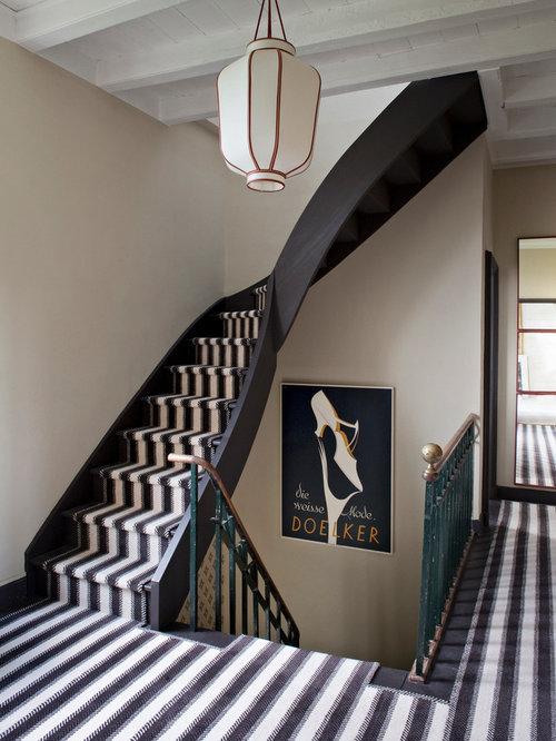 photos et id es d co d 39 escaliers clectiques avec des marches en moquette. Black Bedroom Furniture Sets. Home Design Ideas