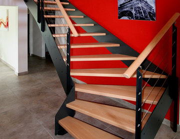 Escalier ambiance industriel LOFT