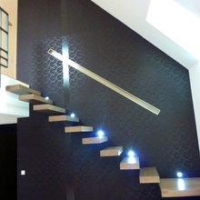 escalier bois moderne suspendu - Modern - Treppen - Paris ...