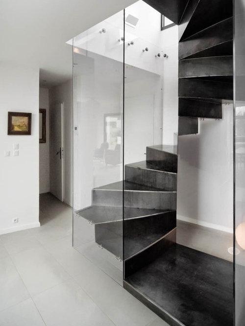 Photos et id es d co d 39 escaliers de luxe for Amenagement dessous escalier