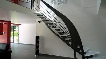 escalier design Art Nouveau