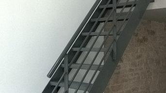 Escalier droit style industriel sur-mesure