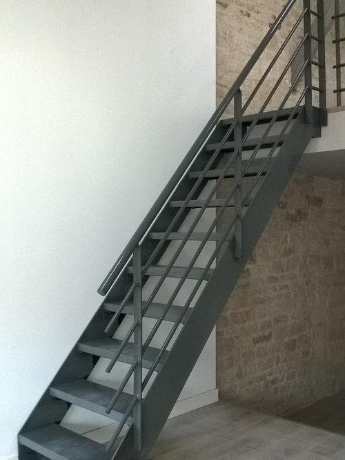 Images de d coration et id es d co de petites maisons metal treads - Escalier metal industriel ...