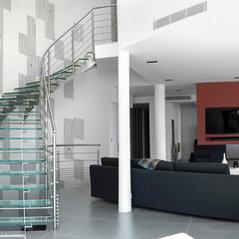 escalier h lico dal inox et verre. Black Bedroom Furniture Sets. Home Design Ideas
