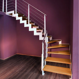 Escalier limon métal