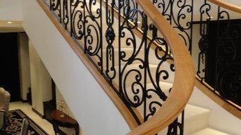 Escalier monumental dans l'orléanais