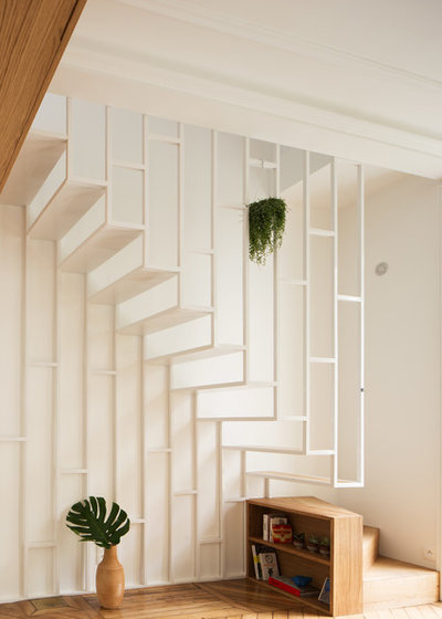 Contemporary Staircase by Atelier Sagitta
