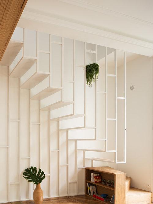 Photos et id es d co d 39 escaliers modernes - Amenager une cage d escalier ...