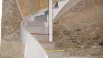Escalier voûte sarrasine