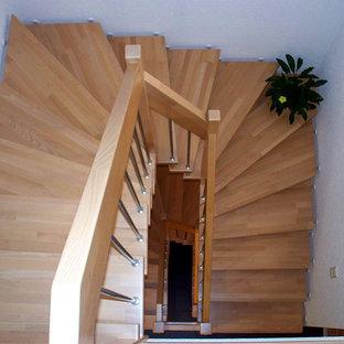Idées déco pour un escalier craftsman.