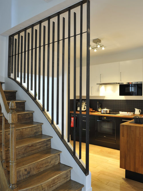cage d 39 escalier home design ideas pictures remodel and decor. Black Bedroom Furniture Sets. Home Design Ideas