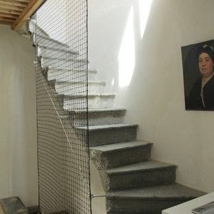 ナントのインダストリアルスタイルのおしゃれな階段の写真