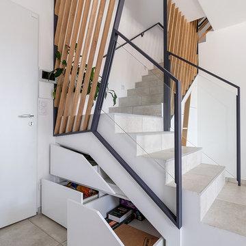 Garde corps et sous escalier