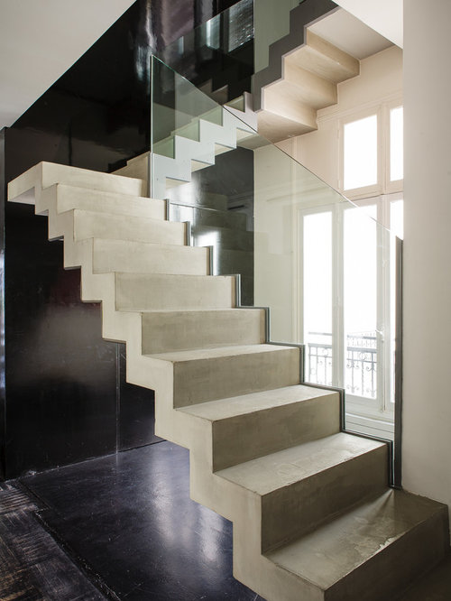 Photos et id es d co d 39 escaliers contemporains - Escalier design beton ...