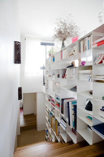 escaliers et biblioth que comment combiner les deux. Black Bedroom Furniture Sets. Home Design Ideas