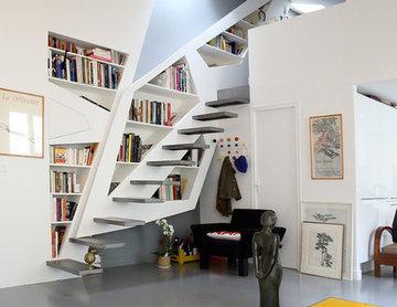 Livre moi / Organisation de l'espace autour d'une bibliothèque multifonctions