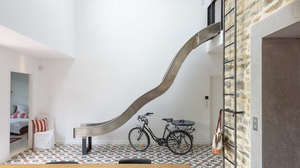 Modern Treppen MICKAEL Tanguy Architecte, maison individuelle, Rennes - Couloir contemporain