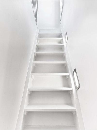 Contemporain Escalier by THIERRY POUBEAU ARCHITECTE D'INTERIEUR