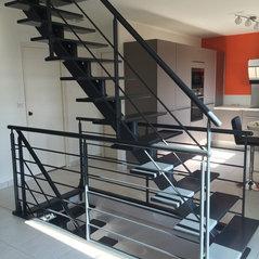 poutres centrales superpos es acier et bois finition. Black Bedroom Furniture Sets. Home Design Ideas