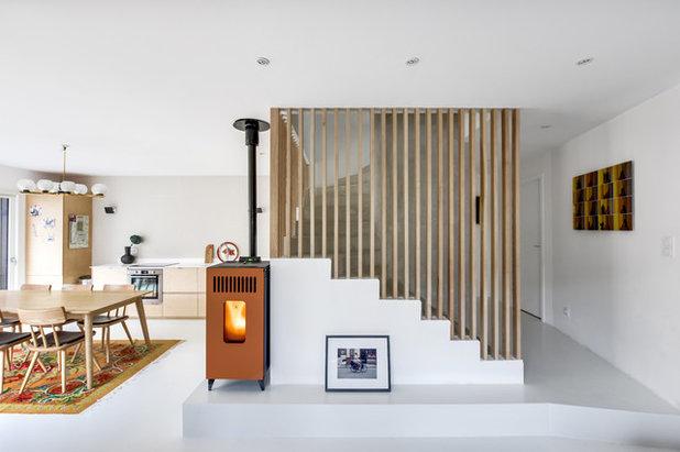 Contemporain Escalier by Transition Interior Design