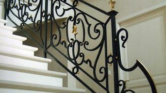 Rampe d'escalier débillardée
