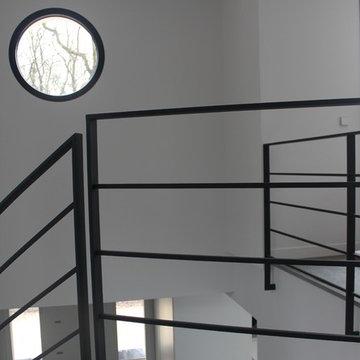 Rampe d'escalier sur mesure en acier Maison contemporaine  380 M²