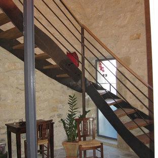 Inspiration pour un escalier craftsman.