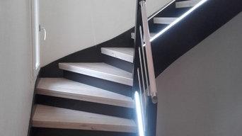 Rénovation complète d'un escalier + installation LED à Angers