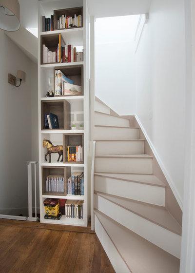 10 conseils de pro pour combiner escalier et biblioth que for Escalier escamotable grande largeur