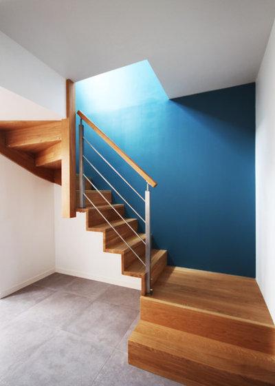 relooker un escalier en bois en 10 id es d co. Black Bedroom Furniture Sets. Home Design Ideas