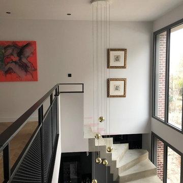 Un Escalier béton magistral - Une maison contemporaine