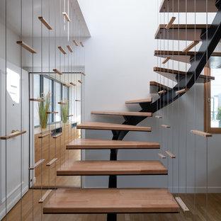 Exemple d'un escalier tendance.