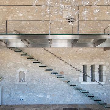 Villa d'exception dans les Alpines - escalier éclectique