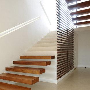 Réalisation d'un escalier design.
