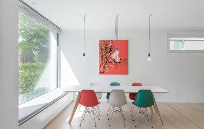 Eine Farbkombi – 6 Styles: Esszimmer in Rot, Grün und Weiß