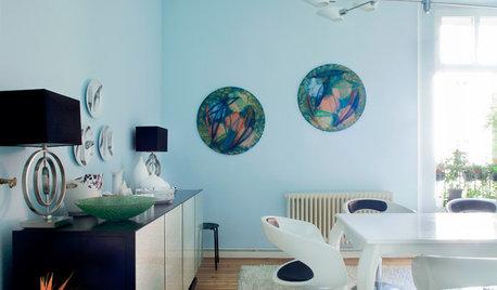 Houzz Германия: Берлинская лазурь в квартире художницы