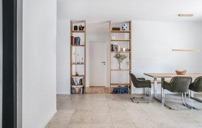 Eine Wohnung wird verkleinert, moderner und heller