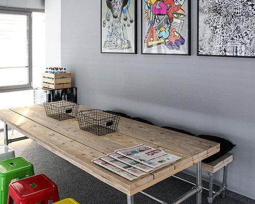 industrial esszimmer mit teppichboden ideen design. Black Bedroom Furniture Sets. Home Design Ideas