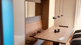 Ein neues Esszimmer mit Wohnzimmerschrank