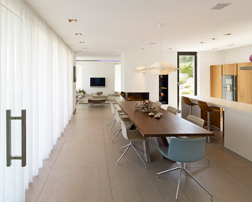 Modern dining room design ideas remodels photos with for Modern linoleum flooring