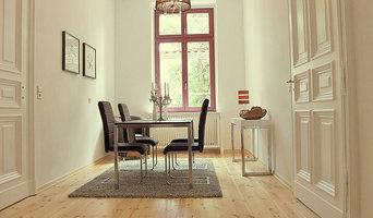 Einrichtung einer Musterwohnung in sanierter Villa
