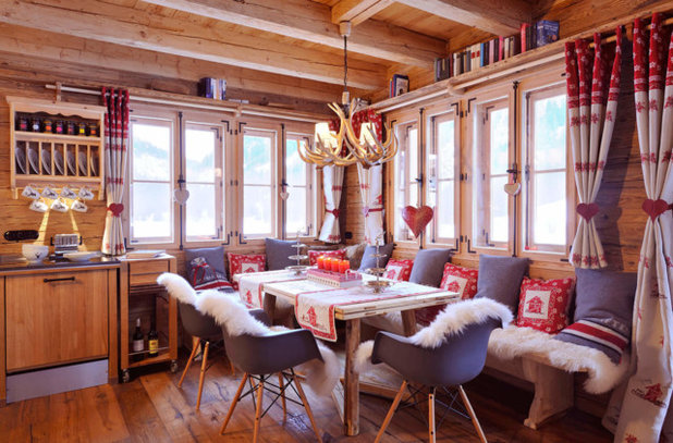 Rustic Dining Room by STEINER Art & Design