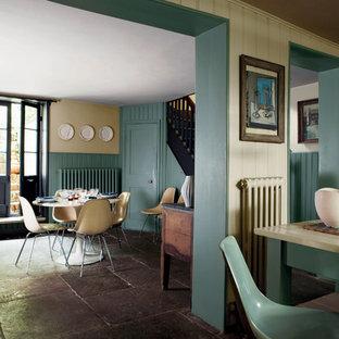 Landhausstil Esszimmer Mit Beiger Wandfarbe Ideen Design Bilder