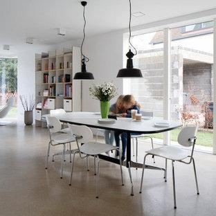 Offenes, Geräumiges Modernes Esszimmer Mit Weißer Wandfarbe In Köln