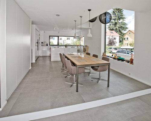 Elegant Idee Für Offene, Große Moderne Esszimmer Mit Weißer Wandfarbe In Stuttgart Amazing Design