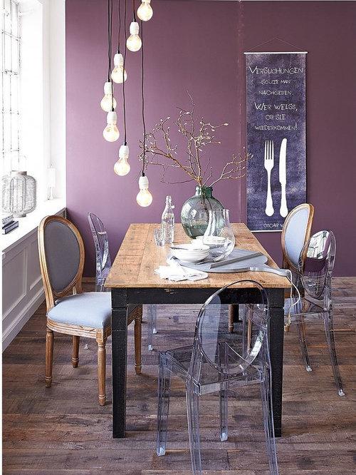 Medium sized purple dining room design ideas renovations for Medium dining room ideas