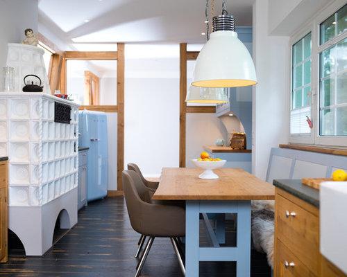 Sala da pranzo con stufa a legna Germania - Foto, Idee, Arredamento